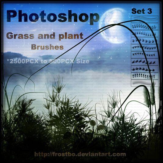 10 가지 풀과 식물(grass and plant) 포토샵 브러쉬 - 10 Free Grass & Plant Photoshop Brushes