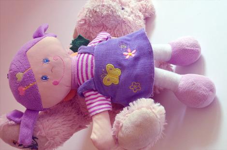 어린이 장난감 여자 귀여운 인형 헝겊 인형 유아 장난감 소녀 인형 보라색 천사 수호천사 - 무료이미지