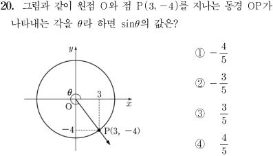 2014년도 제2회 고등학교 졸업학력 검정고시 수학 문제 20번