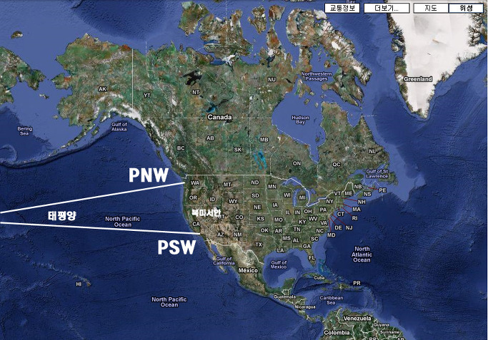 Pacific North West I Pacific South West