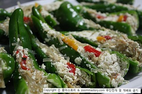 명절음식 재활용, 잡채, 고추튀김