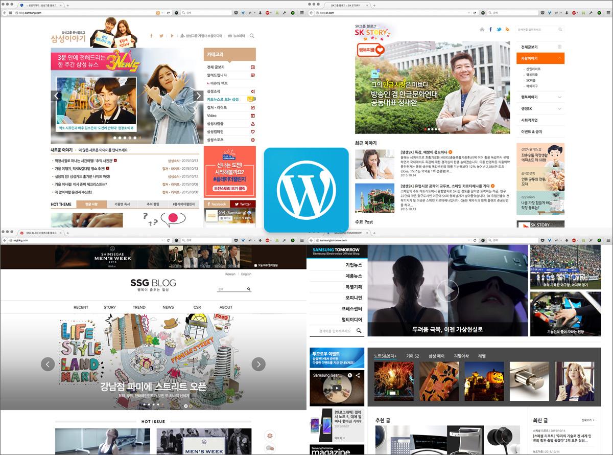 Korean Business Blogs Powered by WordPress