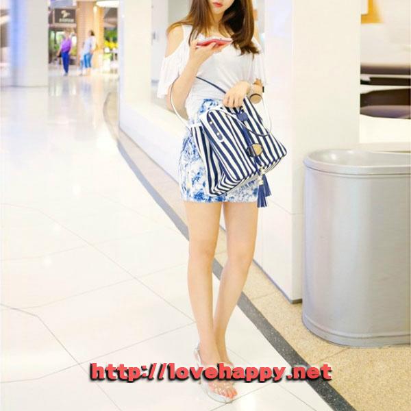 여성가방 숄더 백 마린룩 스타일의 줄무늬 001