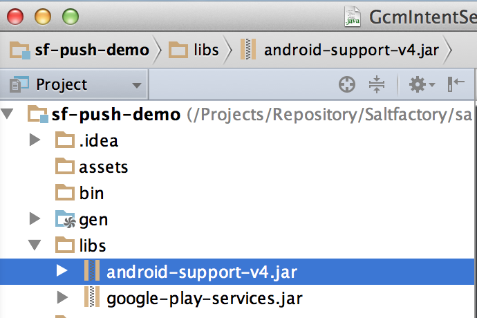 Android services jar download