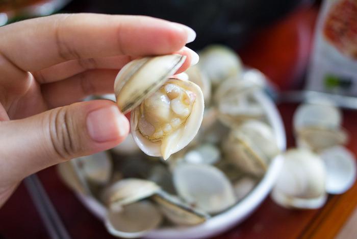 [고창 여행] 갯벌 조개캐기 체험~ 맛있는 조개를 가득! in 전북 고창 메르팡펜션