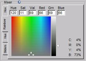 색상혼합 테이블 Rainbow