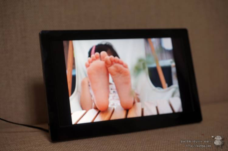 서브모니터, 미니모니터, 디지털액자, pf1040ips, 사진, 슬라이드쇼