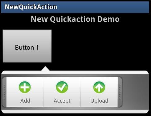 안드로이드 QuickAction Android 퀵액션