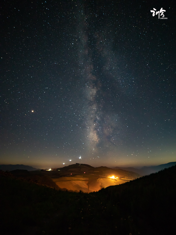 안반데기 은하수와  북천일주 ,,
