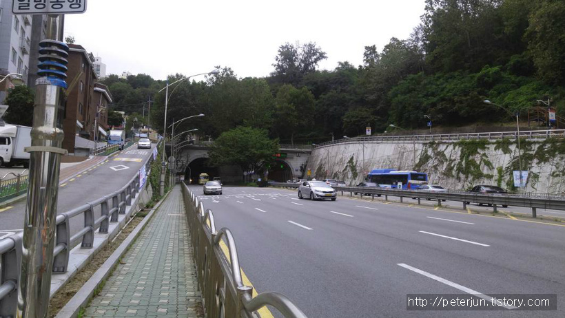 상도터널 모습