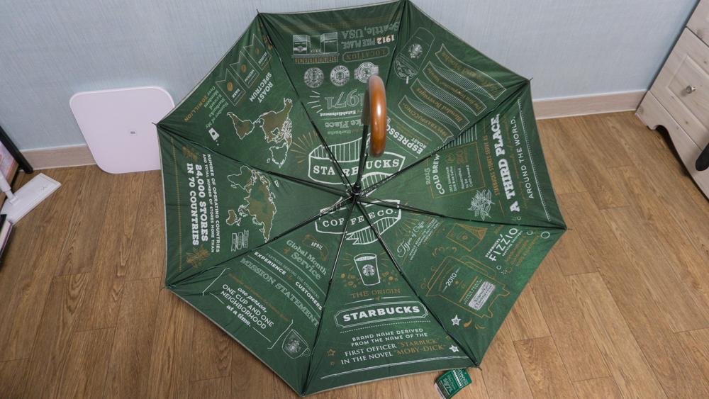 스타벅스 스토리 장우산 펼친 상태 안쪽