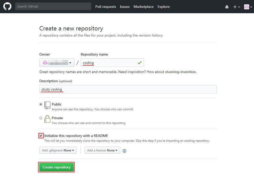 GitHub 원격 저장소 만들기
