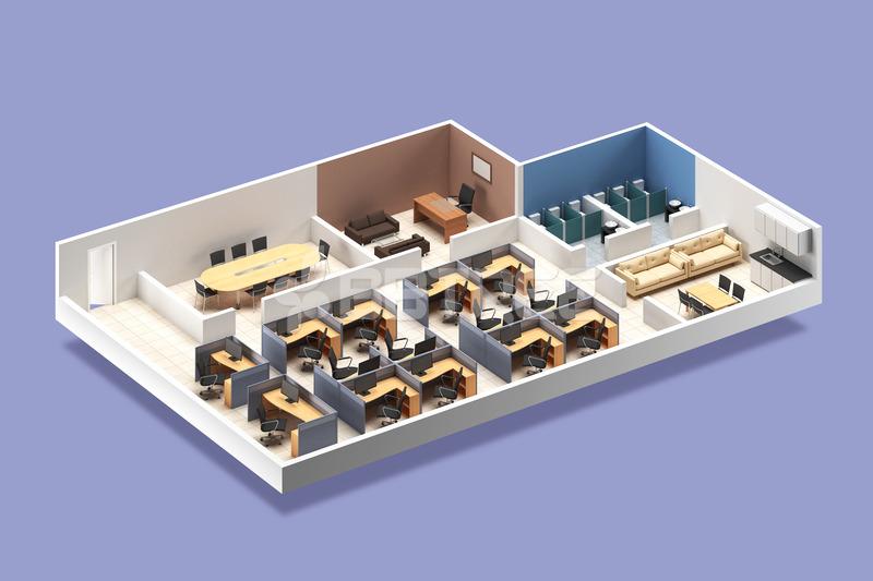 공간 인테리어 3D 그래픽