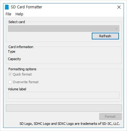 usb 로우 포맷 진행