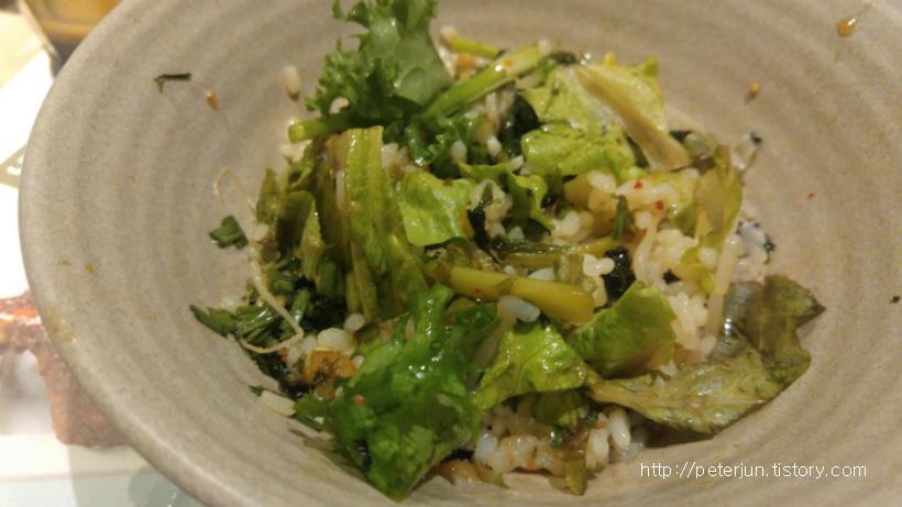 간장 채소비빔밥