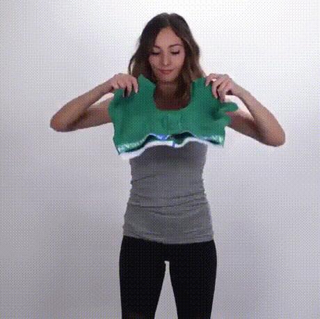 남성 사각팬티를 여성스포츠 용품으로 리폼하는 간단한 방법